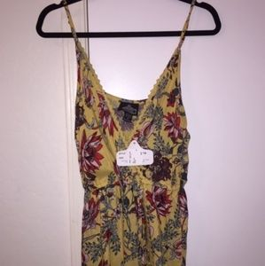 Yellow floral romper